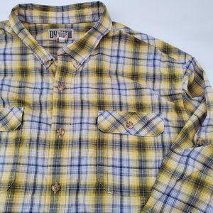 Duluth Trading Breezeshooter L/S Plaid Shirt Lemon